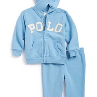Infant Boy's Ralph Lauren Logo Applique Tracksuit