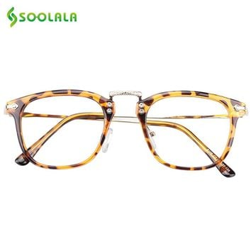 SOOLALA Oversized Womens Reading Glasses Men Horn-rimmed Eyeglasses Frame Full Rimmed Cheap Reading Glasses +0.5 0.75 1.5 to 4.0