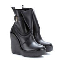 pierre hardy - leather wedge boots