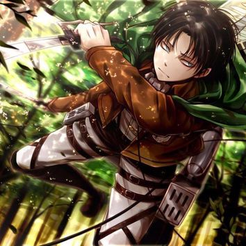 Cool Attack on Titan 3059  Manga Hot Anime-Wall Sticker Art Poster For Home Decor Silk Canvas Painting AT_90_11