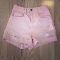 American Apparel Pastel High Waisted Shorts