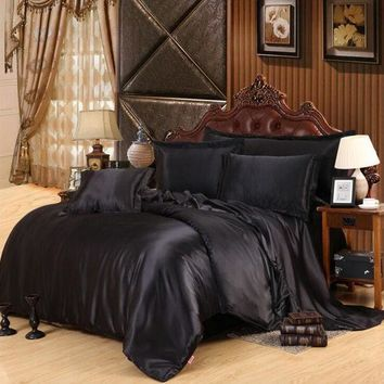 ac PEAPON On Sale Bedroom Hot Deal Black Bedding Set [9393094476]