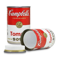 Campbell's Tomato Soup Stash Can Home Security Secret Diversion Safe