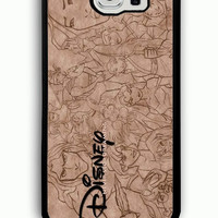 Samsung Galaxy S6 Case - Rubber (TPU) Cover with Walt Disney Classic Never Stop Dreaming Rubber case Design