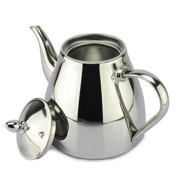 CREYU3C new style stainless steel Tea pot and Coffee Drip Kettle pot teapot with strainer stainless steel Kettle hot water for Barista