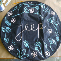 Hand Painted Jeep Tire Cover