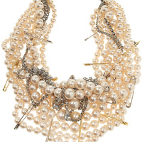 Tom Binns | Pearls In Peril gold-plated Swarovski crystal necklace | NET-A-PORTER.COM
