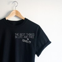 The best things in life are Cruelty Free - Tee