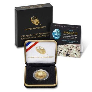 2019-W $5 Gold Apollo 11 50th Anniversary Coin
