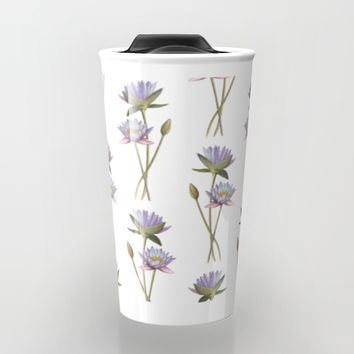 Lotus flowers Travel Mug by Savousepate