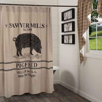 Sawyer Mill Pig Shower Curtain