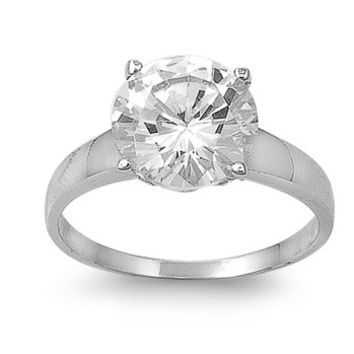 A Perfect 3CT Round Cut Solitaire Russian Lab Diamond Engagement Ring 15edf5d820