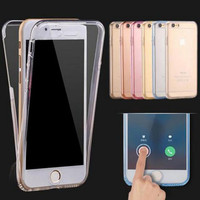 Fashion Ultrathin Clear Transparent TPU Silicone Flexible Soft Cover Case For Apple iPhone X 7 7 plus 8 8plus 6 6s / Plus / 5S SE Full Protect Phone Case+Nice gift box !
