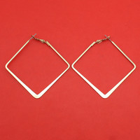 "[$4 Minimum] 2016 New Hot Women Fashion Jewelry Silver Tone Hoop Earring 2.1""X2.0"" Lady Jewelry ZC26"