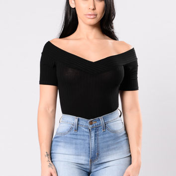 Trivial Emotions Bodysuit - Black