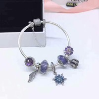 Multitype  Pandora 925 Sterling Silver Inspirational Bracelet