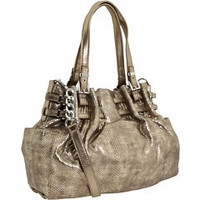 MICHAEL Michael Kors Edie Large Shoulder Tote Bronze Metallic Python - 6pm.com