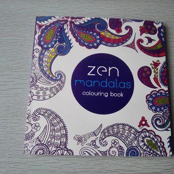 English Edition 128 Pages Mandalas Coloring Book For Adults Children Relieve Stress Kill Time Secret Garden art Coloring books