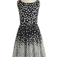 ModCloth Mid-length Tank top (2 thick straps) A-line Dramatic Sequins of Events Dress