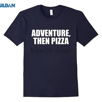 GILDAN Adventure Then Pizza Junk Food Lover Foodie T-Shirt