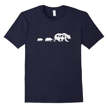 Papa Bear Sons T-shirt Funny Gift Father's Day Tee Men