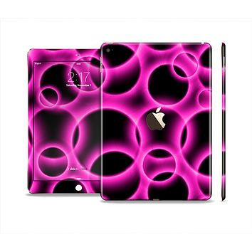 The Vibrant Pink Glowing Cells Skin Set for the Apple iPad Air 2