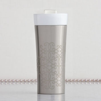 Tazo® Stainless Steel & Ceramic Tumbler, 12 fl oz