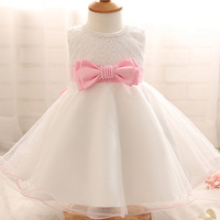 0-2Year Baby Girl Dress Newborn White Princess Dress Baby Wedding Dress 1 Year Baby Girl Birthday Dress Infant Christening Gown