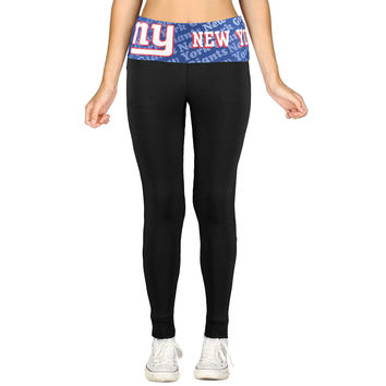 Women's New York Giants Black Cameo Knit Leggings