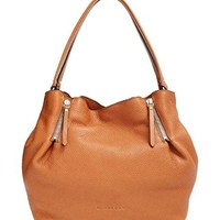 Burberry Brit MAIDSTONE Leather and Canvas Tote in Saddle Brown