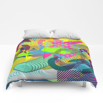 Colorful vibes Comforters by Sagacious Design