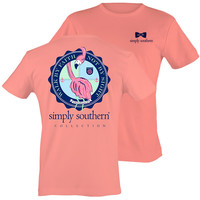 Simply Southern Preppy Flamingo Walk By Faith T-Shirt