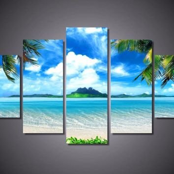 Ocean Island 5-Piece Wall Art Canvas