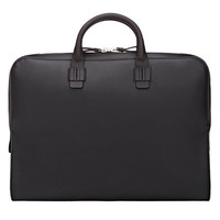 Black Minimalist Slim Handle Briefcase