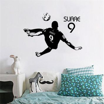 2018 Neymar Sports Football Star Suarez Home Decor Wall Sticker Student Dormitory Bar Background Decoration Poster Stickers D19