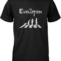 Funny Graphic Statement Mens Black T-shirt - The Evoluation