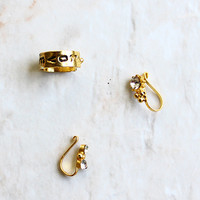 Allure Gold Plated Nose Clip Set of 3