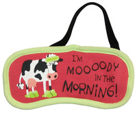 Cow Moody in the Morning Sleep Mask