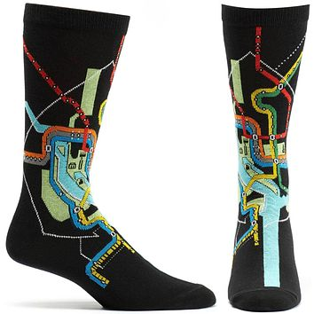 DC Metro Subway Mens Map Sock