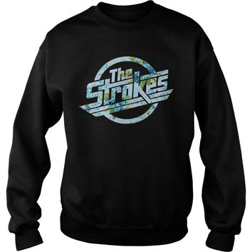 The strokes floral shirt Sweatshirt Unisex
