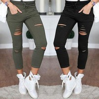 Skinny Stretch Ripped Jeans