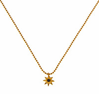 Afghan Gold Star Lapis Necklace