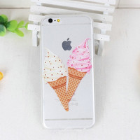 Ice Cream Cone Phone Case For iPhone 7 7Plus 6 6s Plus 5 5s SE