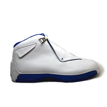 KU-YOU Air Jordan 18 Retro White Sport Royal 2018