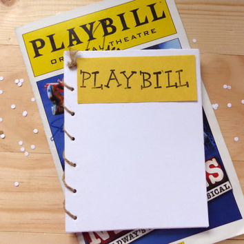 Broadway Playbill Notebook | Theatre Spiral Notebook Journal