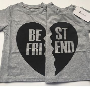 Best Friends Tees for Sibling,Friends Twins
