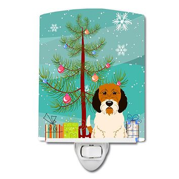 Merry Christmas Tree Petit Basset Griffon Veenden Ceramic Night Light BB4204CNL