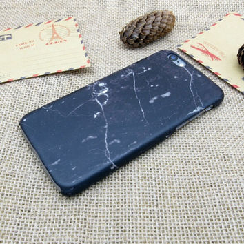 Vintage Black Marble Stone iPhone 5se 5s 6 6s Plus Case Cover + Nice Gift Box 270