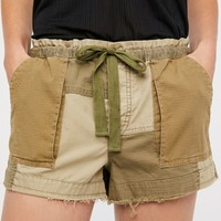 Free People Raw & Blocked Bootcamp Short