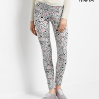 Aeropostale  High-Waisted Conversation Bubble Leggings